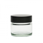 Słoik szklany 15 ml z czarną zakrętką