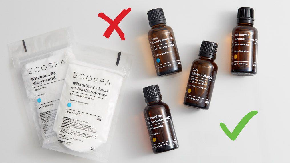 Których składników kosmetycznych nie należy ze sobą łączyć?
