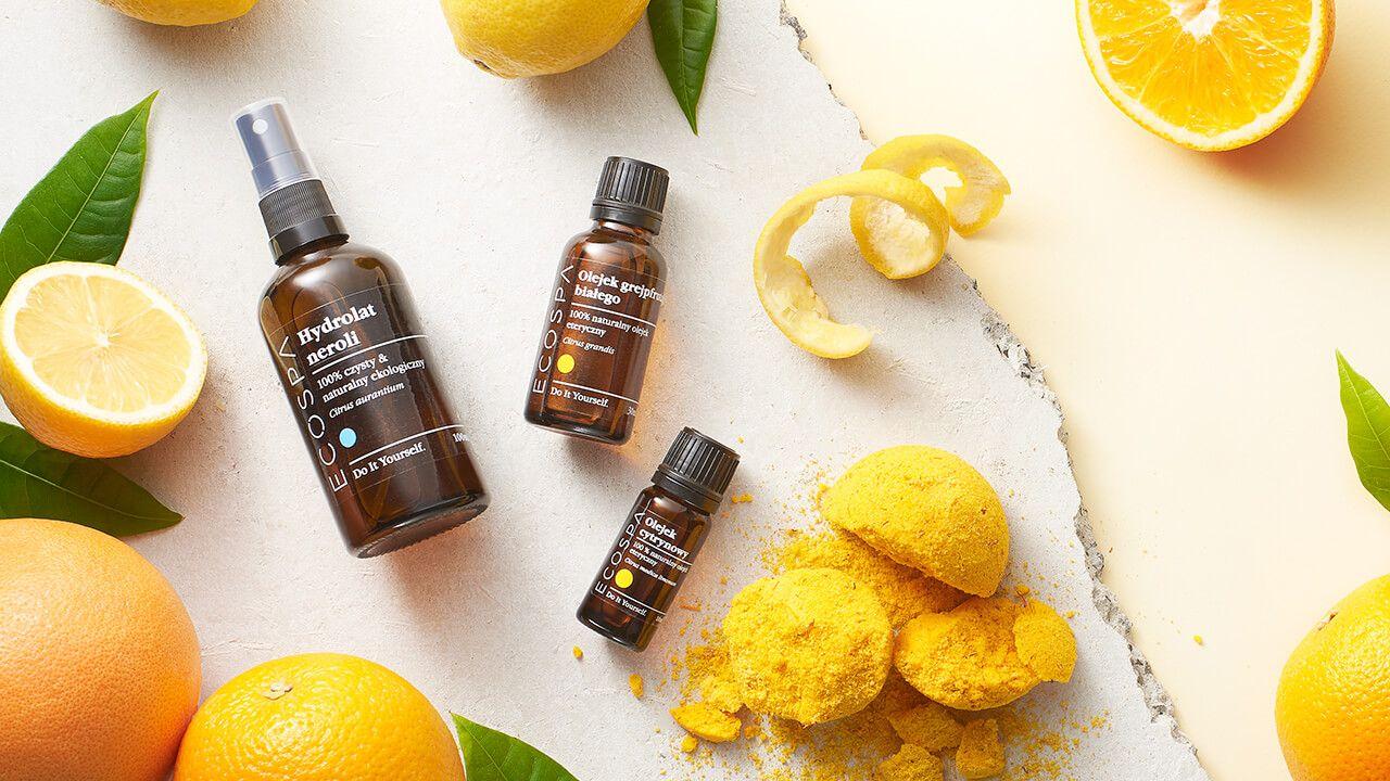 Cytrusy w kosmetyce - pielęgnacyjne i aromaterapeutyczne właściwości cytrusowych składników w kosmetykach